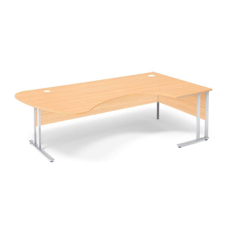 Kulmapöytä Flexus, oikea, 2200x1200 mm, pyökkilaminaatti
