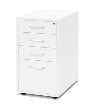 Desk high pedestal, 4 drawers, 720x400x600 mm, white