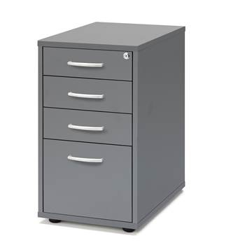 Desk high pedestal, 4 drawers, 720x400x600 mm, grey