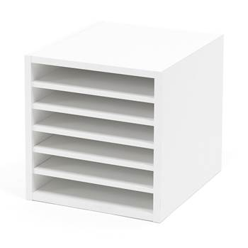 Document compartments, 6 shelves, 375x360x410 mm