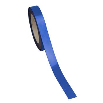 Magnetic easy wipe racking strip, 20x10000 mm, blue