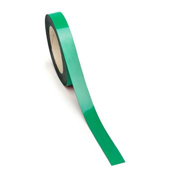 Magnetic easy wipe racking strip, 20x10000 mm, green