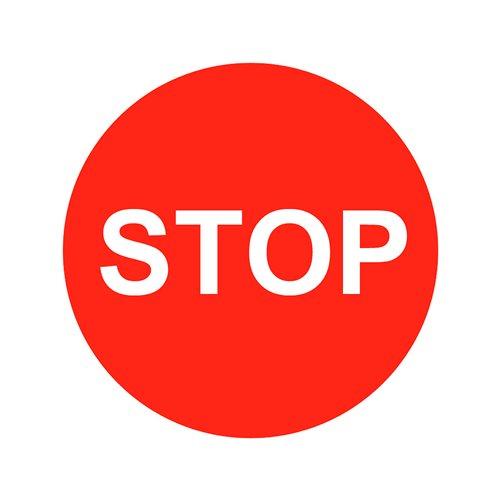 Graphic floor sign: Stop