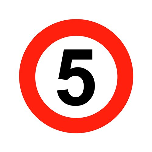 Graphic floor sign: 5mph
