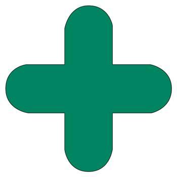 Floor signal, + shape, 10-pack, green