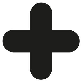 Floor signal, + shape, 10-pack, black