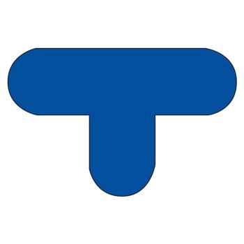 Floor signal, T shape, 10-pack, blue