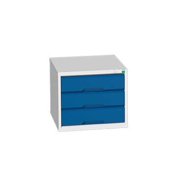 Under bench storage: 3 drawer unit: H450