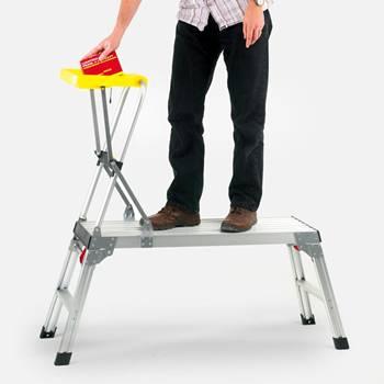 Aluminium work platform with tool tray