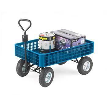 Plastic platform truck with sides: 350kg
