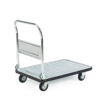 Galvanised folding platform truck, 300 kg load, 590x880 mm
