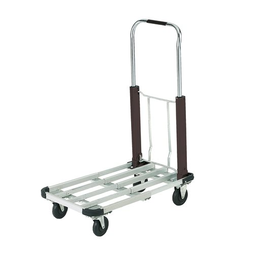 Multi-position aluminium folding trolley