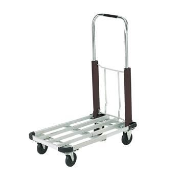 Multi-position aluminium folding trolley