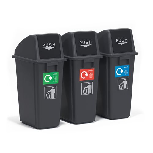 Economy recycling centre: 3 bins: 60L