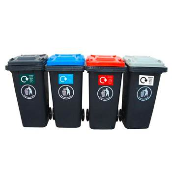 Package deal, 4 recycling wheelie bins