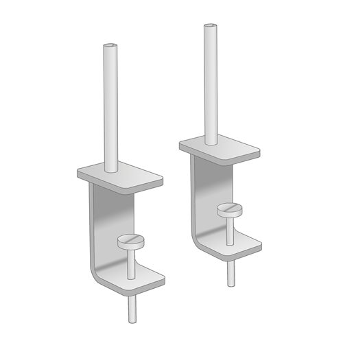 Universal brackets for the desk screens