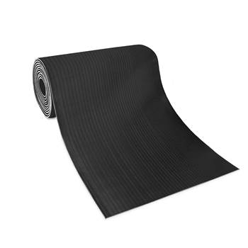 Wide ribbed matting, 900x10000x3 mm, black