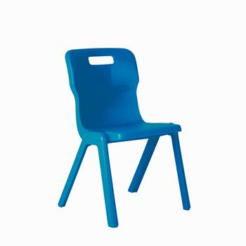 All-in-one plastic chair, H 260 mm, blue