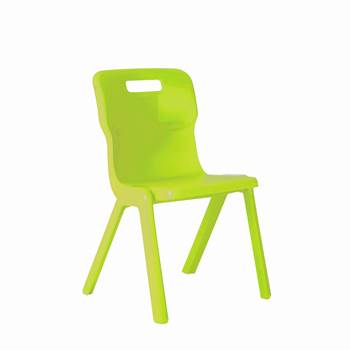All-in-one plastic chair, H 260 mm, lime green