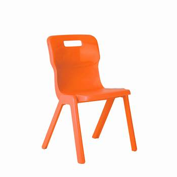 All-in-one plastic chair, H 260 mm, orange