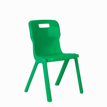 All-in-one plastic chair, H 310 mm, green