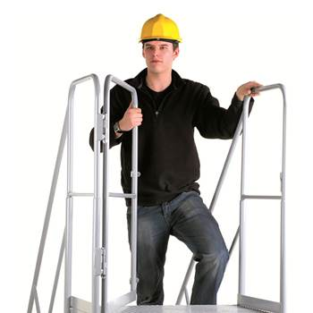 Gate for the easy slope mobile steps