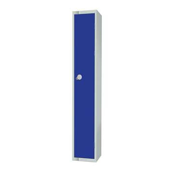 Elite locker, 1 door, 1800x300x300 mm, dark blue