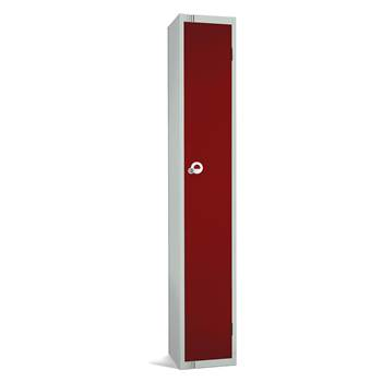 Elite locker, 1 door, 1800x300x300 mm, burgundy