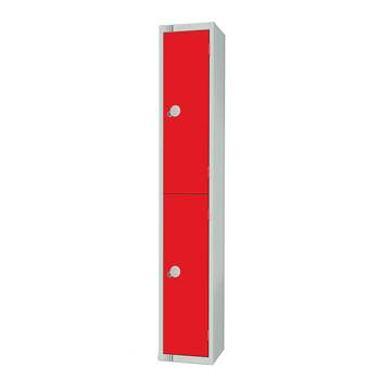 Elite locker, 2 door, 1800x300x300 mm, red