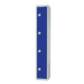 Elite locker, 4 door, 1800x300x300 mm, dark blue