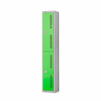 Elite perforated locker, 2 door, 1800x300x300 mm, green