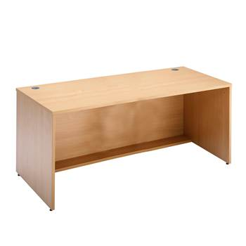 Straight reception desk, 1200x800x742 mm, beech