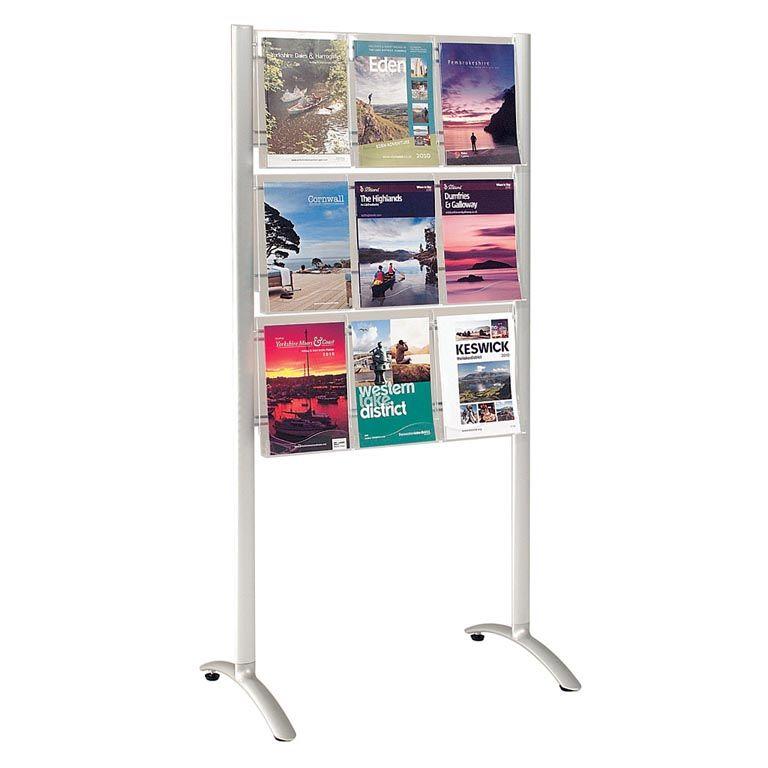 White leaflet dispenser:  9 x A4 or 18 x 1/3 A4