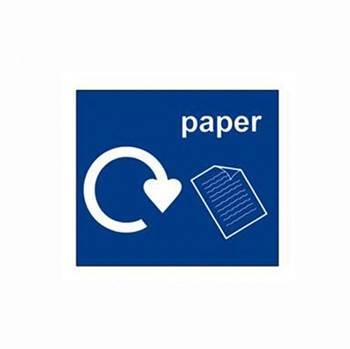 Recycling sticker, paper, 150x130 mm, blue