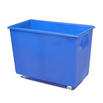 Bottle skip, 620x820x455 mm, 165 L, blue