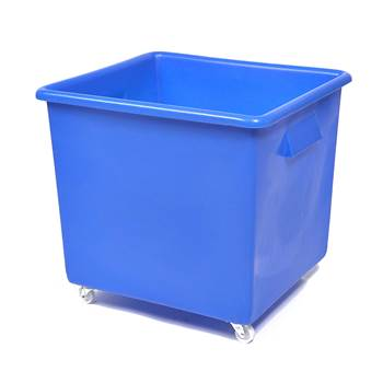 Bottle skip, 620x670x615 mm, 165 L, blue