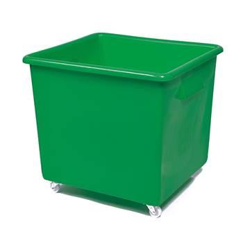 Bottle skip, 620x670x615 mm, 165 L, green