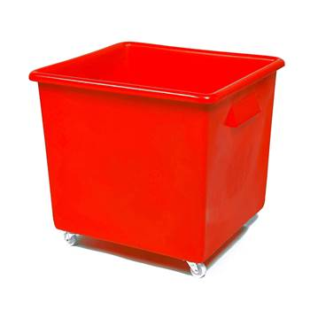 Bottle skip, 620x670x615 mm, 165 L, red