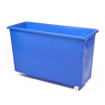 Bottle skip, 620x970x380 mm, 185 L, blue