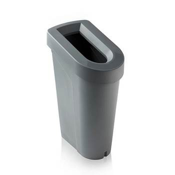 uBin office recycling bin with lid,  grey