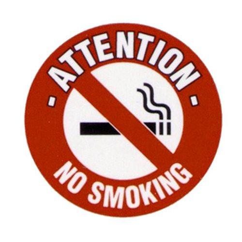 Graphic floor sign: No smoking