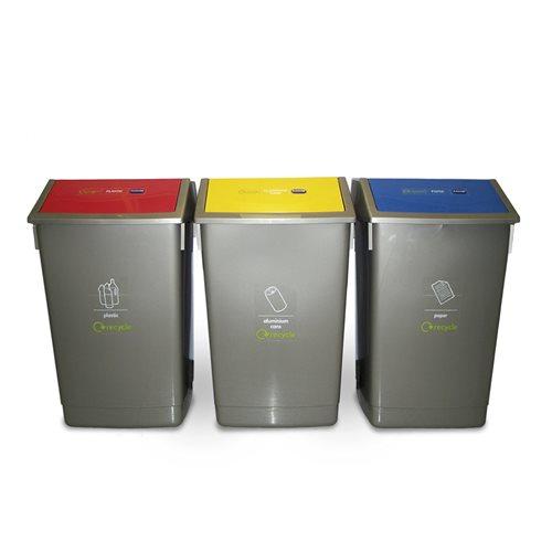 Recycling centre: 3 x 54L bins