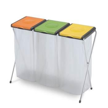 Multi refuse bag holder: triple: 3 x 60L