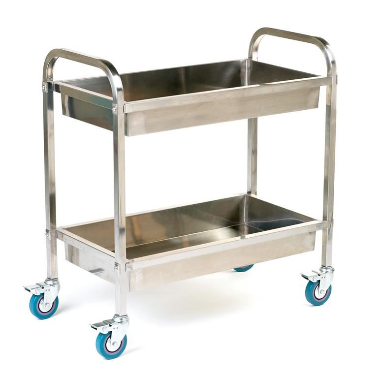 Stainless steel tray trolley: 100 kg