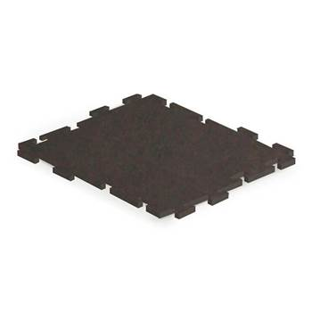 Sport tile interlocking rubber matting, 610x610 mm, black