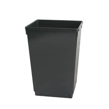 Recycling bin, 600x370x280 mm, 50 L, black