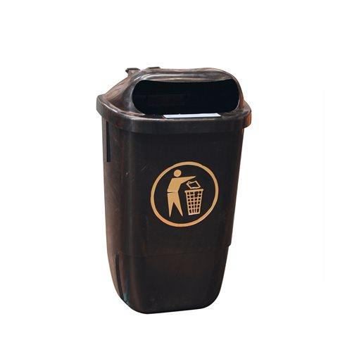 Wall/post mountable litter bin