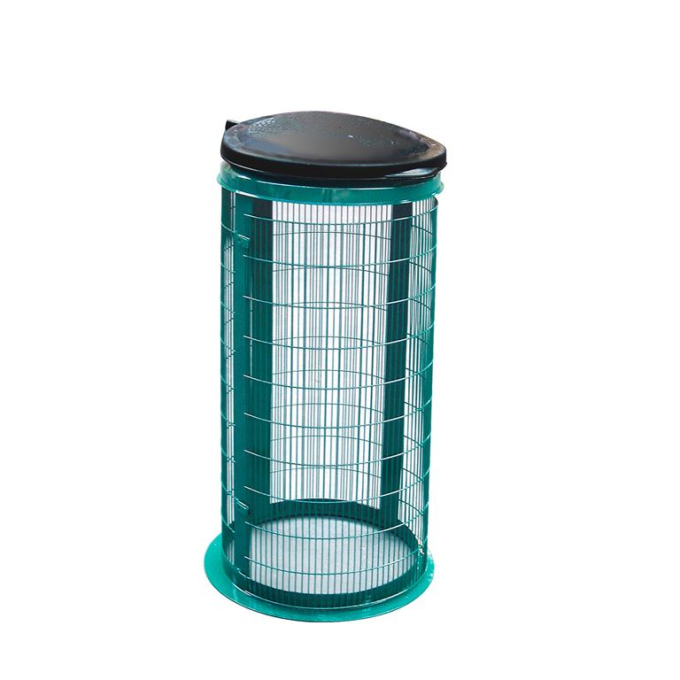 Wire mesh refuse bag holders: green