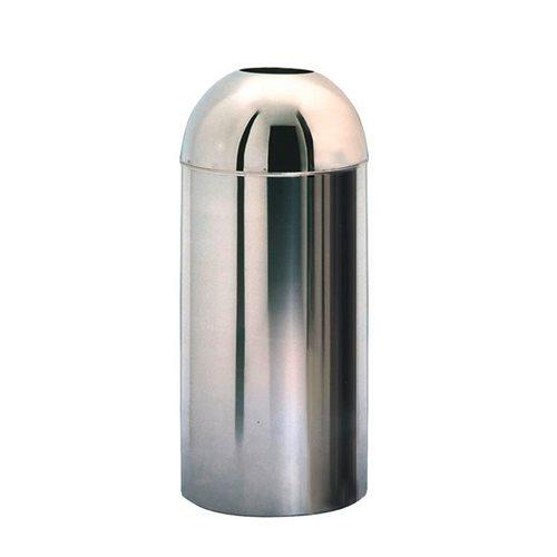 Open top chrome refuse bin: 52L