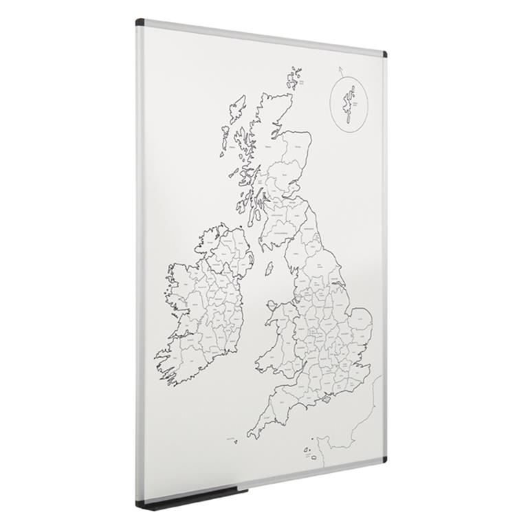 Magnetic UK county outline map